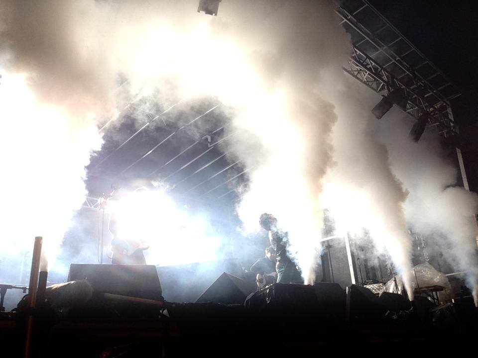CO2 Jets at a concert