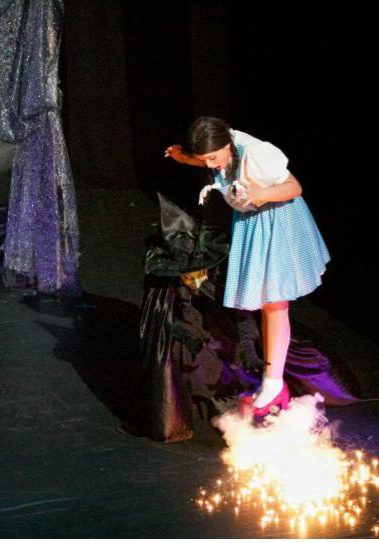 Wizard of Oz ruby slippers pyrotechnics